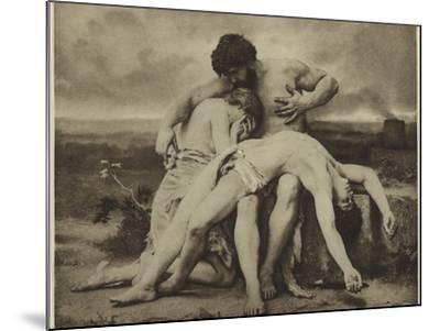 The First Mourning-William Adolphe Bouguereau-Mounted Photographic Print