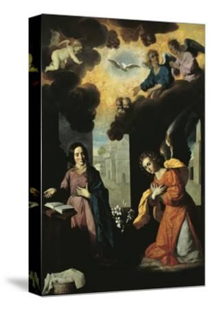 Annunciation, 1638-Francisco de Zurbaran-Stretched Canvas Print