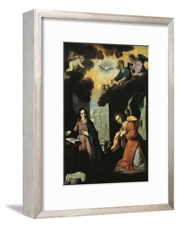 Annunciation, 1638-Francisco de Zurbaran-Framed Premium Giclee Print