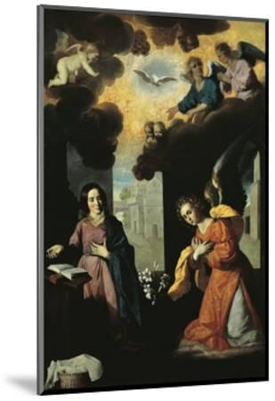 Annunciation, 1638-Francisco de Zurbaran-Mounted Premium Giclee Print