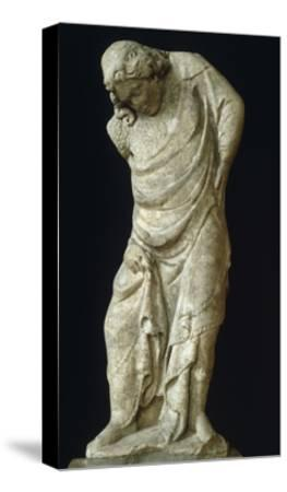 Caryatid as Virtue-Tino di Camaino-Stretched Canvas Print
