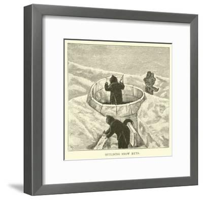 Building Snow Huts--Framed Giclee Print