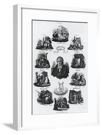 Portrait of Vittorio Amedeo Alfieri--Framed Giclee Print