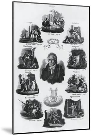 Portrait of Vittorio Amedeo Alfieri--Mounted Giclee Print