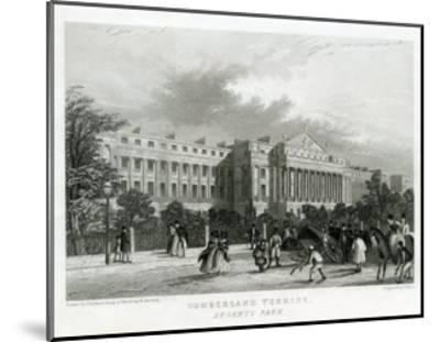 Cumberland Terrace, Regent's Park, London--Mounted Giclee Print
