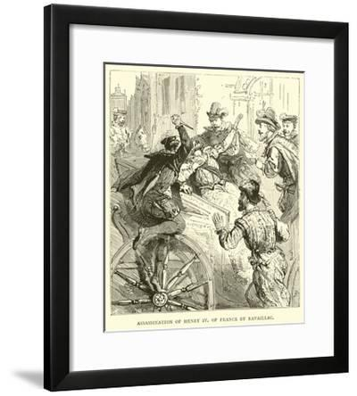 Assassination of Henry IV of France by Ravaillac--Framed Giclee Print