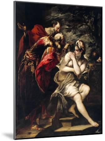 Susanna and Elders-Giovanni Antonio Burrini-Mounted Giclee Print