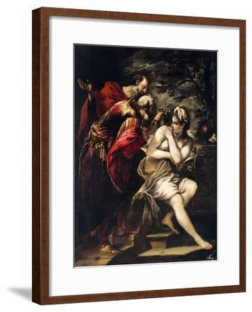 Susanna and Elders-Giovanni Antonio Burrini-Framed Giclee Print