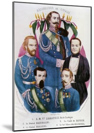 Portraits of Victor Emmanuel II of Savoy--Mounted Giclee Print