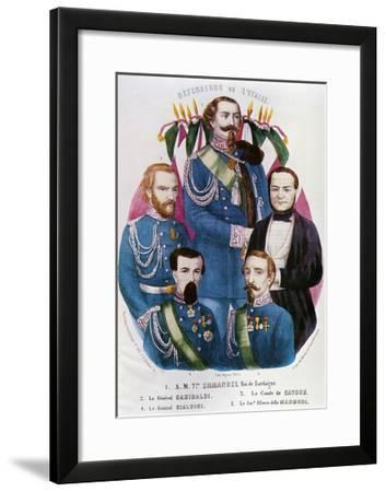 Portraits of Victor Emmanuel II of Savoy--Framed Giclee Print
