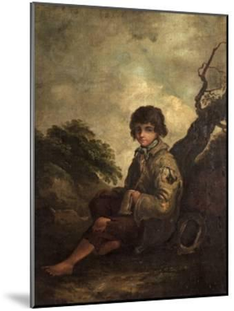 A Young Ballad Singer-Thomas Barker-Mounted Giclee Print