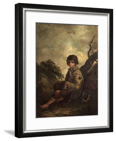 A Young Ballad Singer-Thomas Barker-Framed Giclee Print