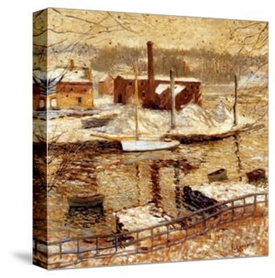 River Scene in Winter, C.1899-Ernest Lawson-Stretched Canvas Print