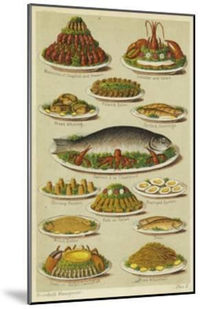Fish and Seafood Dishes--Mounted Giclee Print