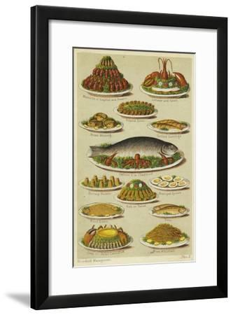 Fish and Seafood Dishes--Framed Giclee Print
