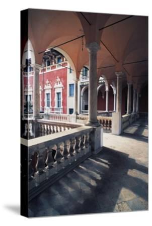 Internal Portico of Cybo Malaspina Palace--Stretched Canvas Print