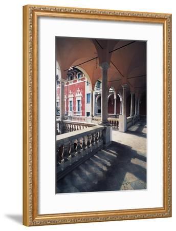 Internal Portico of Cybo Malaspina Palace--Framed Giclee Print