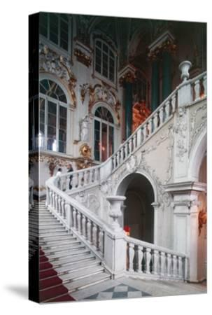View of Ambassadors' Staircase--Stretched Canvas Print