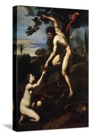 Adam and Eve--Stretched Canvas Print