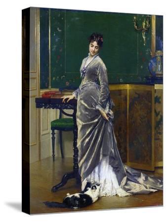 The Playful Cat-Gustave Leonard de Jonghe-Stretched Canvas Print