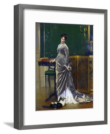 The Playful Cat-Gustave Leonard de Jonghe-Framed Giclee Print