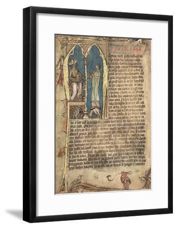 The Norwegian Laws of King Magnus VI--Framed Giclee Print