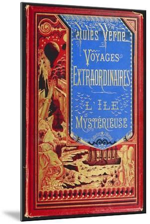 Cover of Mysterious Island, by Jules Verne--Mounted Giclee Print