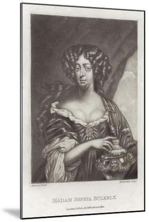 Madam Sophia Bulkely--Mounted Giclee Print