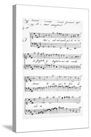 Cantata-Barbara Strozzi-Stretched Canvas Print