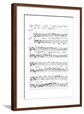 Cantata-Barbara Strozzi-Framed Giclee Print