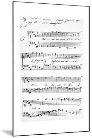 Cantata-Barbara Strozzi-Mounted Giclee Print