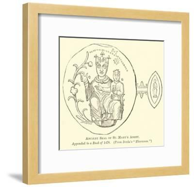 Ancient Seal of St Mary's Abbey--Framed Giclee Print