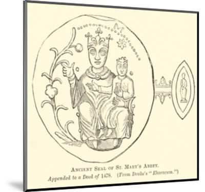 Ancient Seal of St Mary's Abbey--Mounted Giclee Print