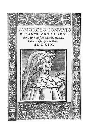 Title Page of Banquet-Dante Alighieri-Framed Giclee Print