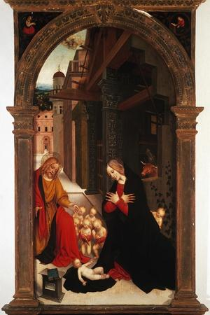 Adoration of the Child-Gerolamo Giovenone-Stretched Canvas Print