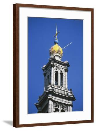 Dome of Bell Tower of Westerkerk--Framed Photographic Print