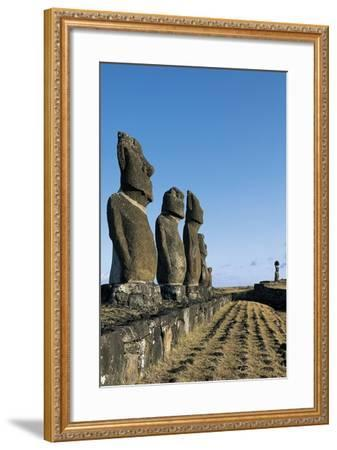 Moai--Framed Giclee Print