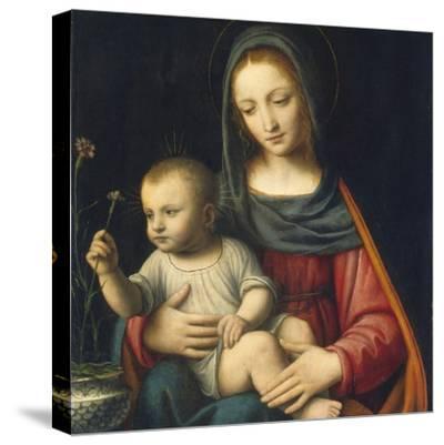The Madonna of the Carnation, C.1515-Bernardino Luini-Stretched Canvas Print