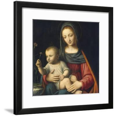 The Madonna of the Carnation, C.1515-Bernardino Luini-Framed Giclee Print