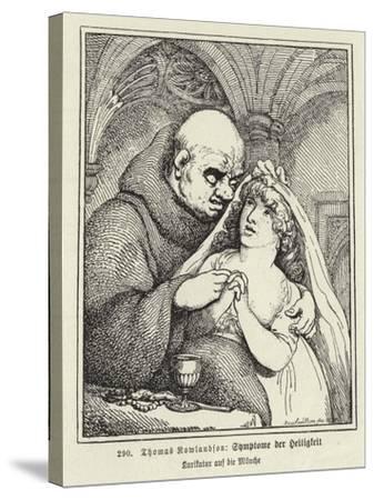 Symptoms of Sanctity-Thomas Rowlandson-Stretched Canvas Print