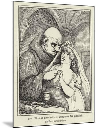 Symptoms of Sanctity-Thomas Rowlandson-Mounted Giclee Print