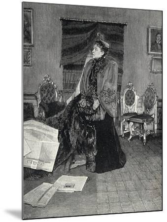 Italian Actress Eleonora Duse--Mounted Giclee Print