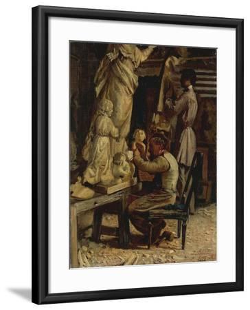 The Sculptor's Studio-Santo Bertelli-Framed Giclee Print