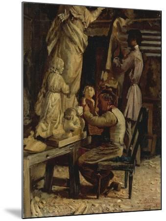The Sculptor's Studio-Santo Bertelli-Mounted Giclee Print