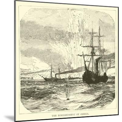 The Bombardment of Odessa--Mounted Giclee Print