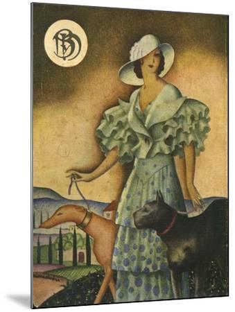 Illustration from 'Blanco Y Negro', 1925--Mounted Giclee Print