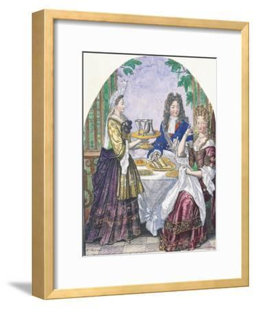 Marquise De Lude at Table-Nicolas Bonnart-Framed Giclee Print