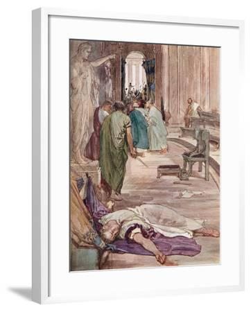 The Murder of Caesar-William Rainey-Framed Giclee Print