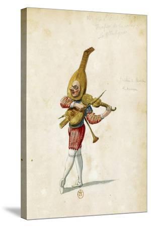 Costume Sketch-Jean Berain the Elder-Stretched Canvas Print