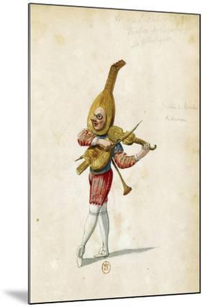 Costume Sketch-Jean Berain the Elder-Mounted Giclee Print